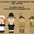 Pilgrims &amp; Native Americans common core mini-unit with Craftivity