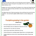 Pilgrims and Pumpkins (pumpkin life cycle)