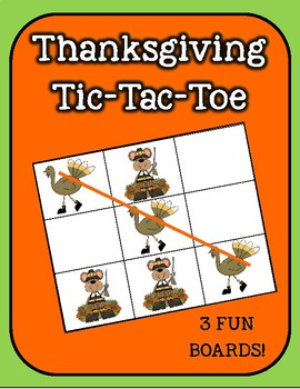 Pilgrims and Turkeys Tic-Tac-Toe