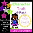 """Pillars"" Character 6-Pack- Savvy School Counselor"
