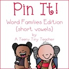 Pin It! Word Families Edition {short vowels}