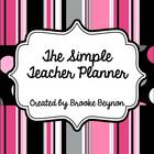 Pink Dots and Stripes Teacher Planner