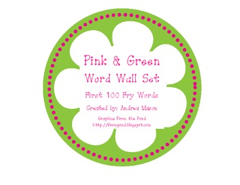 Pink & Green Word Wall Set
