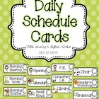 Pink and Green Polka Dot Daily Schedule Cards {with and wi