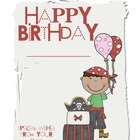 Pirate Birthday Book