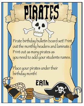Pirate Birthday Bulletin Board