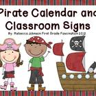 Pirate Calendar and Classroom Sign Super Pack