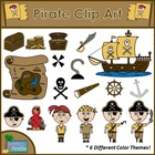 Pirate Clip Art Set {For Commercial and Personal Use}