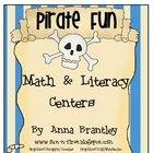 Pirate Fun Math and Literacy Center Packet