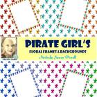 Pirate Girl's Floral Frames & Backgrounds