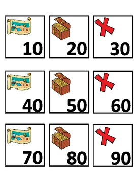 Pirate~ Let's Count Numeral Cards