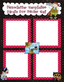 Pirate Newsletter Templates to Accompany Pirate Binder Set