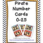 Pirate Number Cards 0-25