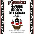 Pirate Numbered Labels: Leveled Library or Calendar