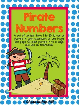 Pirate Numbers 1-10 Posters - Freebie!