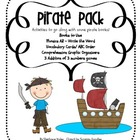 Pirate Pack - Literacy and Math Mini Pack