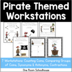 Pirate Pete&#039;s Treasure: Math and Literacy Centers