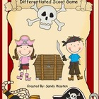 Pirate Place Value Differentiated Scoot Game (K.NBT.1, 1.N