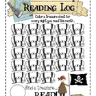 Pirate Reading Log for Primary Students