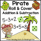 Pirate Roll & Cover Addition & Subtraction Games!