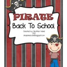 Pirate Theme Back to School Pack