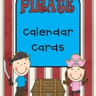 Pirate Theme Calendar Cards