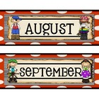Pirate Theme Calendar Months Version 2