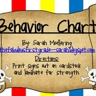 Pirate Themed Behavior Chart (Clip-up, clip-down)