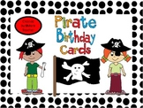 Pirate Themed Birthday Cards