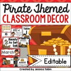 Pirate Themed Classroom Decor (Red, Gray, & Black Designs)