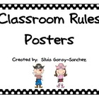 Pirate Themed Classroom Rules Mini Posters