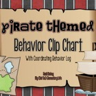Pirate Themed Clip Chart and Behavior Log: Behavior Managm