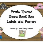 Pirate Themed Genre Book Basket Labels and Posters