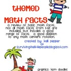 Pirate Themed Math Facts 1-12