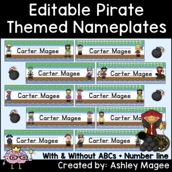 Pirate Themed Nameplate/Deskplate/Nametags
