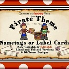 Pirate Themed Nametags - EDITABLE