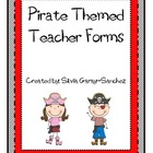 Pirate Themed Teacher Forms