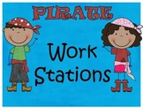 Pirate Themed Work Station Signs