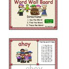 Pirate Word Wall Board SmartBoard Activity
