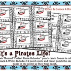Pirate theme punch cards