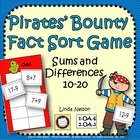 Pirates' Bounty Fact Sort: Addition and Subtraction 10-20