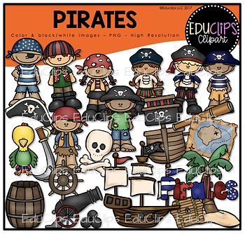 Pirates Clip Art Bundle