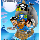 Pirates Coloring Book - Ships, Mermaids, Sea, Caribbean