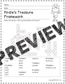 Pirate's Treasure--Map Skills Game