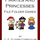 Pirates and Princess File Folder Games