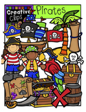 Pirates and Treasure Map Combo {Creative Clips Digital Clipart}
