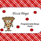 Pizza Bingo (Programmable for Math or Language Arts)