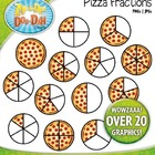 Pizza Fractions Clipart — Over 20 Graphics!