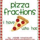 Pizza Fractions Game: I have... Who has?