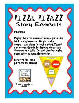 Pizza Pizazz! Story Elements